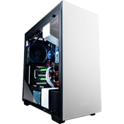 NZXT H700i Gaming Gehäuse Case - Weiss mit NZXT Hue+ RGB Lighting