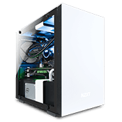 NZXT H200 Tempered Glas Gaming Gehäuse - Weiss