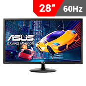 "28"" [3840 x 2160] ASUS VP28UQG EYE CARE GAMING MONITOR - 4K 1ms - AMD FreeSync + Eye Care"