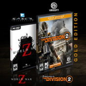 AMD50 Bundle (The Division 2 Gold Edition und World War Z)/ beim Kauf von AMD Radeon II / RX 590 / RX 580 / RX 570